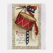 Vintage 4th of July Throw Blanket
