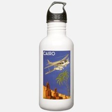 Vintage Travel Poster Cairo Egypt Water Bottle