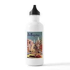 Vintage Travel Poster San Francisco Water Bottle
