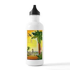 Vintage Travel Poster Los Angeles Water Bottle