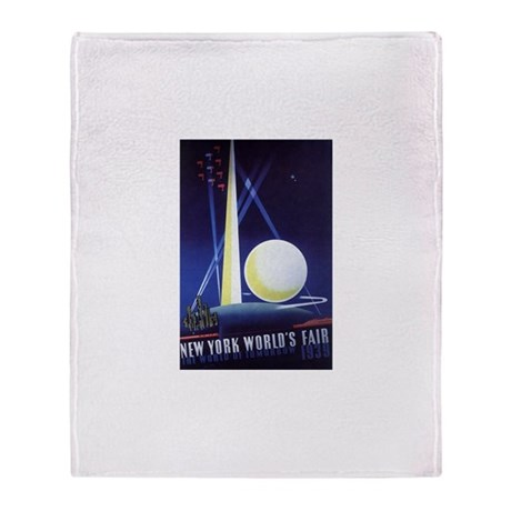 Vintage Travel Poster New York City Throw Blanket