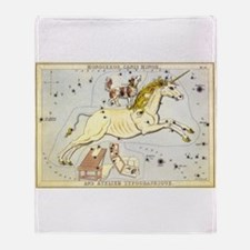 Vintage Unicorn Constellation Throw Blanket