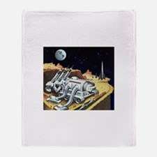Vintage Science Fiction Throw Blanket