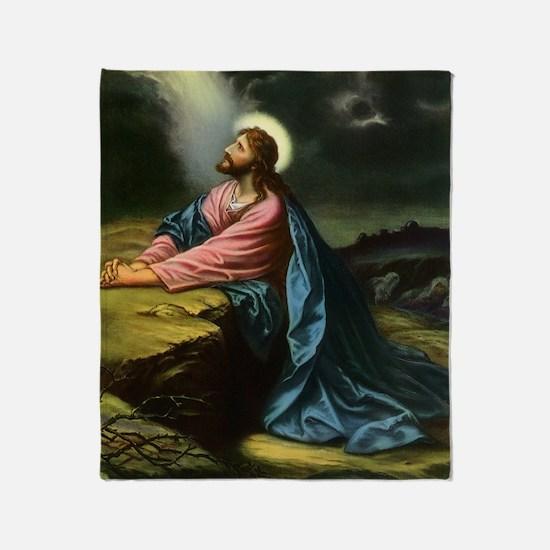 Vintage Jesus Christ Throw Blanket