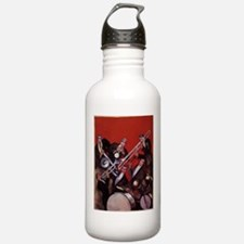 Vintage Music, Art Deco Jazz Water Bottle