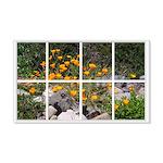 Poppy Garden Window 22x14 Wall Peel