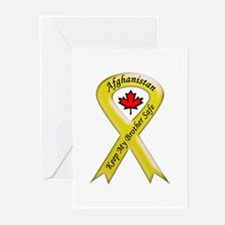 Afghanistan Brother Safe Ribbon Greeting Cards (Pk
