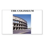 the colisseum rome italy gift Sticker (Rectangle 5