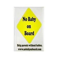 No Baby on Board Rectangle Magnet