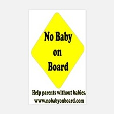 No Baby on Board Rectangle Decal