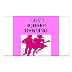 line or square dance Sticker (Rectangle 10 pk)