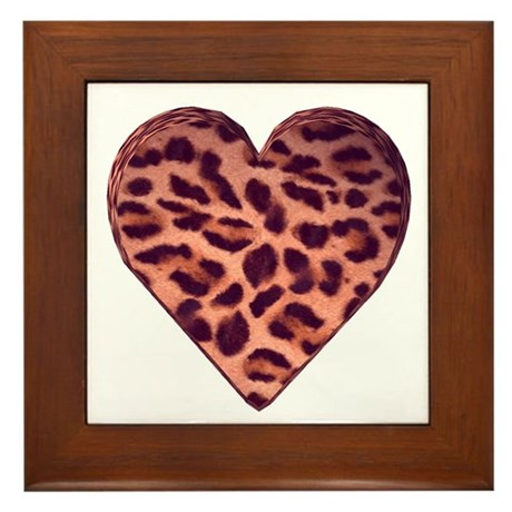 Leopard Heart Framed Tile