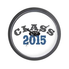 Class Of 2015 Blue Wall Clock