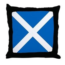 Flag of Scotland Throw Pillow