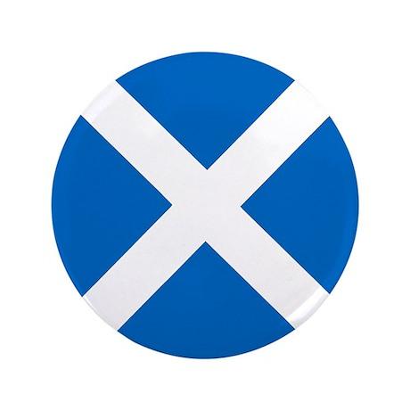 "Flag of Scotland 3.5"" Button"