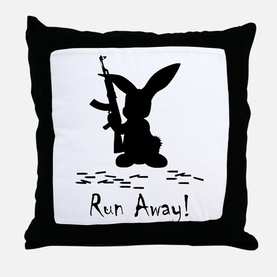 Run Away! Throw Pillow