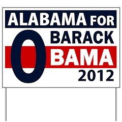 Alabama for Obama Yard Sign