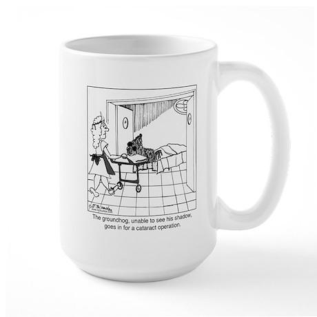 The groundhog has cataracts Large Mug