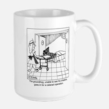 The groundhog has cataracts Large Mug