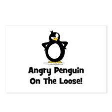 Angry Penguin on the Loose Postcards (Package of 8