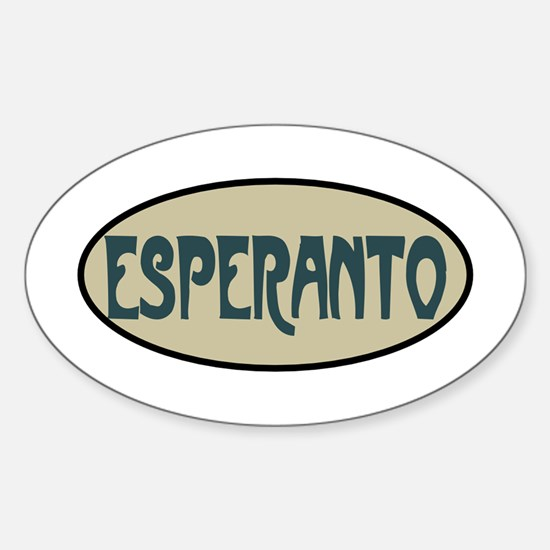Esperanto Sticker (Oval)