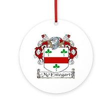 McEntegart Coat of Arms Ornament (Round)