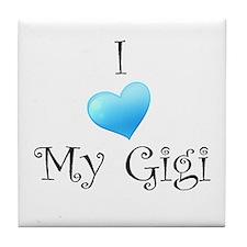 I Love Gigi Tile Coaster