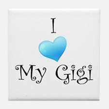 I Love Gigi Tile Coaster