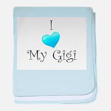 I Love Gigi baby blanket