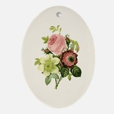 Provencal Natural Floral I Ornament (Oval)