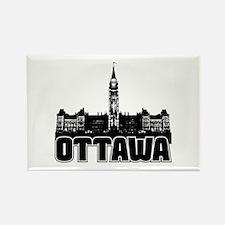 Ottawa Skyline Rectangle Magnet