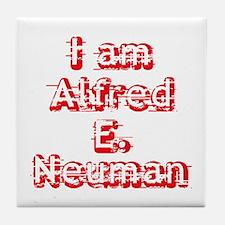 I Am Alfred E. Neuman Tile Coaster