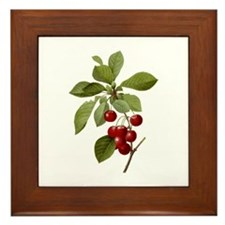 Provencal Cherries Framed Tile