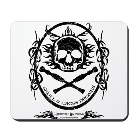 Skull and Cross Drones Mousepad