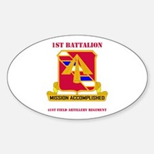DUI - 1st Bn - 41st FA Regt with Text Decal