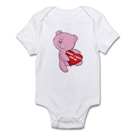 Mommy and Daddy Loves Me Bear Infant Bodysuit