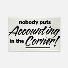 Accounting Nobody Corner Rectangle Magnet