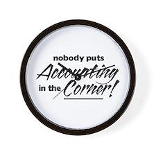 Accounting Nobody Corner Wall Clock