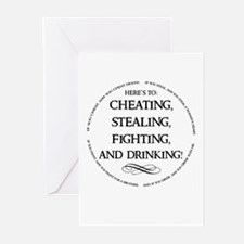 Irish Drinking Proverb Greeting Cards (Pk of 10)