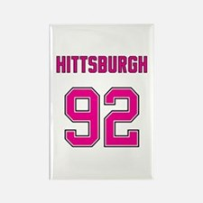 Hittsburgh Pink 92 Rectangle Magnet