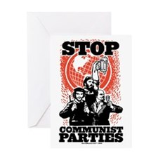 Stop Communist Parties! Greeting Card