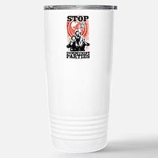 Stop Communist Parties! Stainless Steel Travel Mug