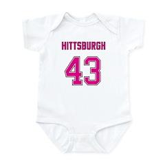 Hittsburgh Pink 43 Infant Bodysuit