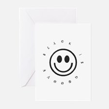 Black is GROOVY Greeting Cards (Pk of 10)