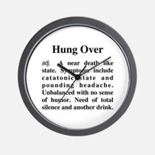 The Definition Of Hung Over Wall Clock