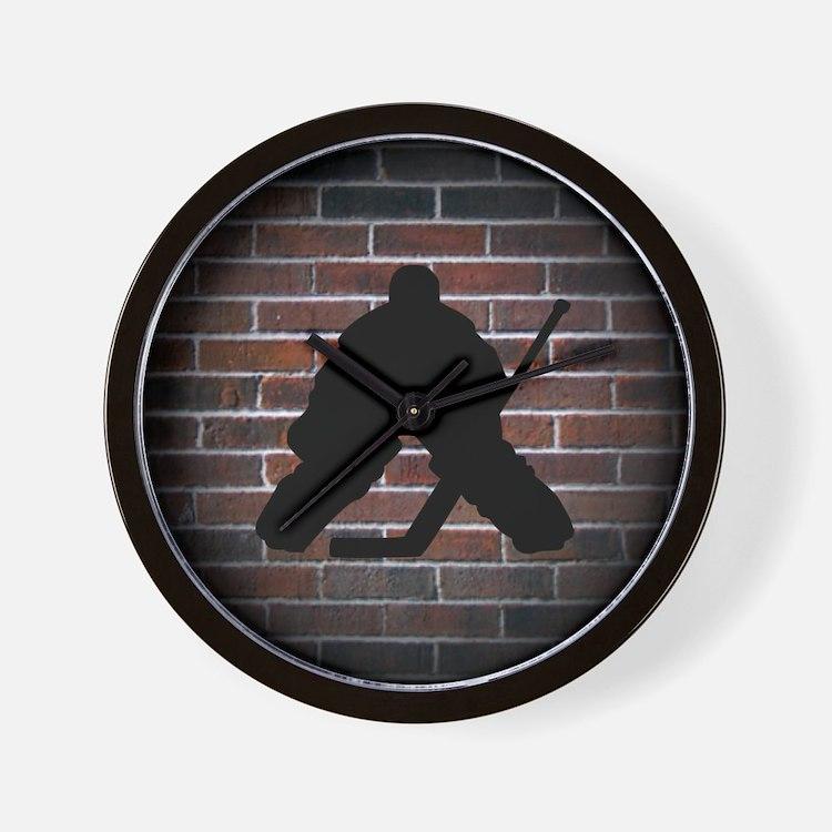 Hockey Goalie Wall Clock