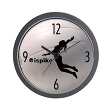 ispike Volleyball Wall Clock