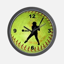 Fastpitch Softball ihit Wall Clock