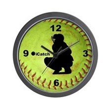 Fastpitch Softball icatch Wall Clock