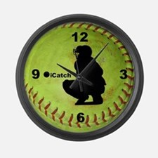 Fastpitch Softball icatch Large Wall Clock